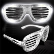 White Light-Up LED Slotted Glasses - White Light-up LED slotted glasses