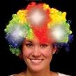 Rainbow Light Up LED Spirit Costume Wig - Rainbow Light up LED spirit costume wig, blank