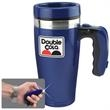 Flashlight Mug - Blue - LED - 16 oz - 16 oz blue travel mug with flashlight handle