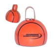 "4"" Basketball Cowbell - 4 inch metal basketball-shaped orange cowbell."