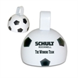 "4"" Soccer Ball Cowbell - 4"" soccer ball-shaped metal cowbell."