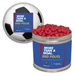Half Quart Tin  with Cinnamon Red Hot Candy - Half quart tin containers with cinnamon red hots tart candy. Our Christmas tins are great as a holiday or corporate food gift.