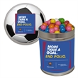 Quart Tin with Chewing Gumballs - Quart tin with gumballs.  These are great as a holiday or corporate food gift.