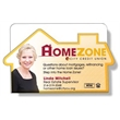 """Magnetic Coupon Holder - White .020 plastic coupon holder, house shape front, magnet strip, 2.54"""" x 4.03""""."""