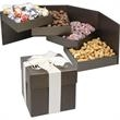 Executive Delight - 4 Tier elegant swivel gift box with cashews, pistachios, mixed nuts and peanuts.