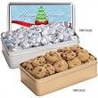 Large Rectangle Tin / Chocolate Almonds - Chocolate almonds in large rectangle tin.