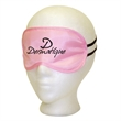 Pink Satin Sleep Mask - Pink satin sleep mask with  imprint area, and imprint or label options on storage bag