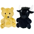 "10"" Bear/Black Bull Reversible Puppet"