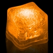 """Premium Lited Ice Orange LED Light-Up Ice Cubes - Blank - 1 3/8"""" frosted plastic premium ice cube with built-in orange LED lights that have 3 light settings; sold blank."""