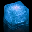 """Premium Lited Ice Blue LED Light-Up Ice Cubes - Blank - 1 3/8"""" frosted plastic premium ice cube with built-in blue LED lights that have 3 light settings; sold blank."""