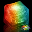 """Premium Lited Ice Rainbow LED Light-Up Ice Cubes - Blank - 1 3/8"""" frosted plastic premium ice cube with built-in multi-colored LED lights that have 3 light settings; sold blank."""