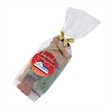 Dog Bone Gift Bag - Clear cello gift bag that's tied with a colorful ribbon and filled with dog bone treats.