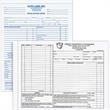 "Design-A-Form - Custom carbonless business form with manila tag backer, 8 1/2"" x 11""."