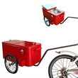 Bike Cooler - Steel bike ice cream cart cooler.
