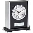 Polished Wood Desk Clock - Black polished wood desk clock with second hand.