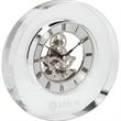 Elegant Crystal Clock - Elegant clear crystal clock with floating silver dial.