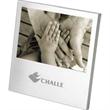Desktop Photo Frame - Brushed aluminum desktop photo frame with a velvet easel back.