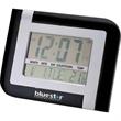Wall or Desktop Clock - Matter silver and black wall or desktop clock with temperature display.