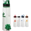 """Vortex 30 oz. Tritan™ Water Bottle - 3"""" x 11"""" x 3"""" Tritan water bottle with 30 oz. capacity; includes twist-off lid, flip-up spout, straw and carrying handle."""