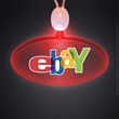 Light-up promotional acrylic oval necklace with LED