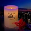 "4"" Wax Flameless Flickering LED Pillar Candle"
