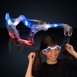 Red white and blue flashing LED star shaped sunglasses