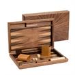 "15"" Solid Walnut Fancy Backgammon Set - Medium Size - 15"" Solid Walnut Fancy Backgammon Set - Medium Size"