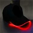 Light Up Hat - Baseball Cap - Black with Red LEDs - Black Light Up Baseball Hat - Red LED