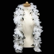 White & Black Adult Size Feather Boa