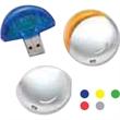 Plastic round USB drive