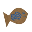Fish Cork Coaster - Fish shape cork coaster. Made in the USA.