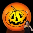Orange Pumpkin Face LED Flash Rings - LED light-up ring. One size fits most. Blank.