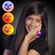 Soft Orange Pumpkin Ring with Flashing Lights - Soft orange light-up ring. One size fits most. Blank.