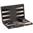 "18""Black and White Vinyl Backgammon Set, Large Size - 18"" Black and White Vinyl Backgammon Set, Large Size."