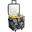 Collapsible Rolling Cooler - Large collapsible 60 can capacity poly canvas cooler on wheels.
