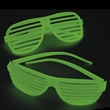 Glow Shutter shades - Glow in the dark slotted sunglasses; no imprint only.