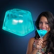 Inspiration Ice lighted ice cubes - Push-button activated realistic turquoise lighted ice cube. Blank.