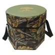 Camouflage folding portable same cooler set - Cooler seat made of 600 Denier Polyester tree print.