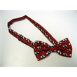 100% Polyester Bow Tie - 100% Polyester Wet Dye Bow Tie with Custom Design