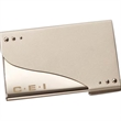 Milan Business Card Holder - Dual tone business card holder.