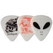 Celluloid Standard Shape Glow-In-The-Dark Guitar Pick - Matte finish Glow-in-the-Dark color Standard shape guitar pick.