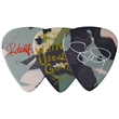 Celluloid Standard Shape Camouflage Guitar Pick Matte Color - Matte finish camouflage color standard shape guitar pick.