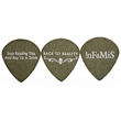GrippX JAZZ Shape Guitar Pick Matte Black - Matte finish jazz shape guitar pick.