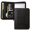 Wall Street Padfolio II - Padfolio with large gusseted pocket and zippered closure.