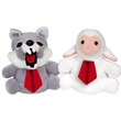 "7"" Reversible Wolf / Sheep with tie with one color imprint"