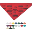 "Large Triangle Pet Bandanna w/ Hemmed Opening - Printed pet bandana with hemmed opening for collar. 19"" x 11""."