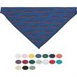 "Small Triangle Pet Bandana w/ Hemmed Opening - Printed pet bandana with hemmed opening for collar. 14"" x 8""."