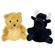 "7"" Bear/Black Bull Reversible Puppet"