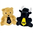 """7"""" Reversible Black Bear/Bull with ties & one color imprints"""