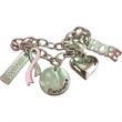 Charm Bracelet - Breast cancer awareness charm bracelet.
